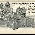 Vintage 1947 Maag Zahnrader AG Zurich Swiss Print Ad Publicite Suisse Schweiz Zahnrad