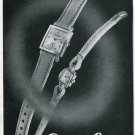 Vintage 1947 Cortebert Watch Company Switzerland Swiss Print Ad Suisse Publicite Montres