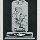 Vintage 1947 Lemania Watch Company Lugrin SA Switzerland Swiss Ad Advert Suisse Publicite