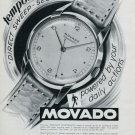 Vintage 1947 Movado Tempomatic Watch Advert Publicite Suisse Montres Swiss Magazine Ad