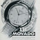 Vintage 1947 Movado Tempomatic Watch Advert Publicite Suisse Montres Swiss Magazine Ad