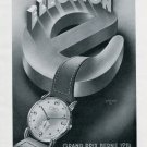 Vintage 1947 Election Grand Prix Watch Advert Publicite Suisse Montres Swiss Print Ad