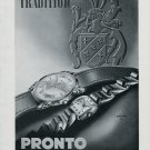 Vintage 1947 Pronto Watch Company Montres Pronto SA Suisse Publicite Swiss Ad Advert Switzerland