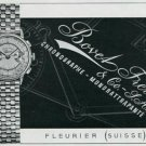 Vintage 1945 Bovet Freres & Co SA Watch Co Switzerland Swiss Print Ad Suisse Publicite Montres