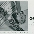 Vintage 1945 Cortebert Watch Co Switzerland Swiss Print Ad Suisse Publicite Montres Schweiz Suiza