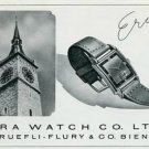 Vintage 1945 Era Watch Co C Ruefli-Flury & Co Switzerland Swiss Print Ad Suisse Publicite Montres