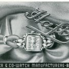 Vintage 1945 Hafis F Suter & Co Watch Manufacturers Switzerland Swiss Print Ad Suisse Publicite