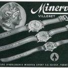 Vintage 1945 Minerva Sport SA Watch Co Switzerland Swiss Print Ad Suisse Publicite Montres Schweiz