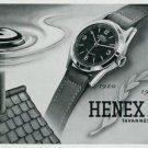 Vintage 1945 Henex Watch Company Tavannes Switzerland Swiss Print Ad Suisse Publicite Montres