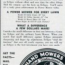 Vintage 1936 Eclipse Lawn Mower Company Prophetstown IL Illinois 1930s Print Ad Publicite Advert