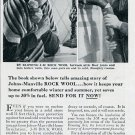 1936 Johns-Manville Rock Wool Insulation Vintage 1930s Print Ad Publicite Advert