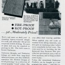 Vintage 1936 Ruberoid Co Roofing & Building Print Ad Publicite Advert Asbestos Shingles Rubberoid