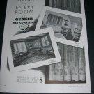 Vintage 1936 Quaker Hosiery Company Quaker Net Curtains Original 1930s Print Ad Publicite Advert