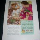 Vintage 1936 Bon Ami Cleanser Polishes As It Cleans Original 1930s Print Ad Publicite Advert