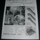 1936 Gorham Rosemont Silverplate Vintage 1930s Print Ad Publicite Advert New Romantic Mood