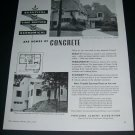 Vintage 1936 Portland Cement Association Chicago IL Concrete Homes Original 1930s Print Ad Advert