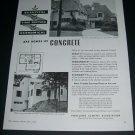Vintage 1936 Portland Cement Association Chicago IL Concrete Homes Original 1930s Print Ad Advert