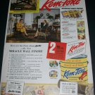 1943 Kem-Tone Miracle Wall Finish Original 1940s Print Ad Advert WW2 WWII Era