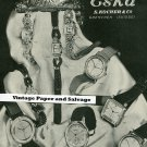 Vintage 1945 Eska S Kocher & Co Watch Co Switzerland Original 1940s Swiss Print Ad Suisse Publicite