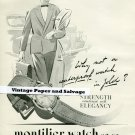 Vintage 1945 Montilier Watch Co SA Switzerland 1940s Swiss Print Ad Suisse Publicite Montres