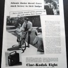 Vintage 1936 Cine-Kodak Eight Eastman Kodak Home Movies 1930s Print Ad Advert Publicite
