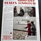 Vintage 1936 Congoleum-Nairn Inc Kearny NJ Adhesive Sealex Linoleum 1930s Print Ad Advert