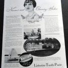 Vintage 1936 Lady Clifford Listerine Tooth Paste Lambert Pharmacal Co St Louis Print Ad Advert