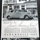 Vintage 1936 Oldsmobile General Motors GMAC American Scene Car Auto Automobile Ad Publicite Advert