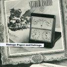 Vintage 1945 Arthur Imhof SA Clock Co Switzerland Publicite Suisse 1940s Swiss Print Ad Schweiz