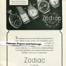 Vintage 1945 Zodiac Watch Co Swiss Federal Railways Suisse Publicite Montres Swiss Print Ad