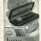 Original 1945 Juvenia Watch Company Suisse Publicite Montres 1940s Swiss Print Ad Schweiz