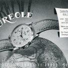 Vintage 1949 Aureole Watch Company Switzerland Swiss Print Ad Publicite Suisse Montres Schweiz