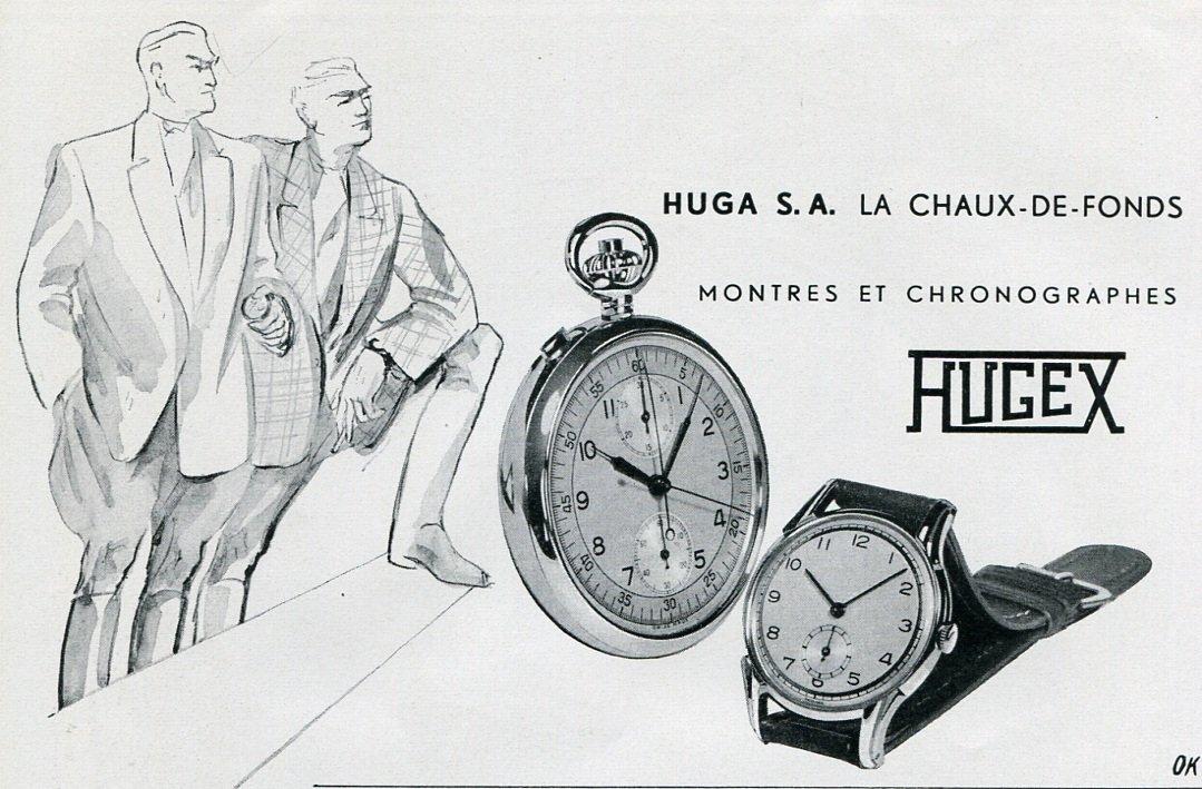 vintage 1949 huga sa hugex watch company switzerland swiss. Black Bedroom Furniture Sets. Home Design Ideas