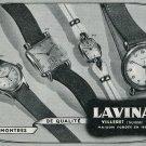 Vintage 1949 Lavina Watch Company Switzerland 1940s Swiss Print Ad Publicite Suisse Montres Schweiz