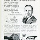 Vintage 1949 Tissot Watch Co Chs Tissot & Fils SA Swiss Print Ad Publicite Suisse Montres Suiza