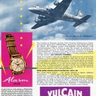 Original 1956 Vulcain Cricket Watch Advert SwissAir Swiss Print Ad Publicite Suisse Montres
