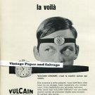 Vintage 1968 Vulcain Cricket Watch Advert Swiss Print Ad Publicite Suisse Montres Schweiz