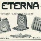 Vintage 1931 Eterna Watch Co Schild Freres & Co Suisse Publicite Montres Swiss Print Ad Schweiz