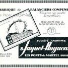 Vintage 1931 S Jaquet Huguenin Swiss Print Ad Publicite Suisse Switzerland Schweiz Horlogerie