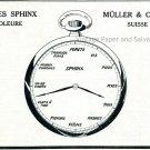 Vintage 1931 Usine Sphinx Müller & Cie SA Switzerland Swiss Ad Publicite Suisse Montres Schweiz