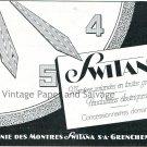 Vintage 1931 Switana SA Watch Co Compagnie des Montres Original Swiss Print Ad Publicite Suisse