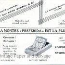 Vintage 1931 Leon Schmid & Cie Switzerland Original 1930s Swiss Print Ad Suisse Publicite Schweiz