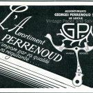Vintage 1931 Assortiments Georges Perrenous SA Switzerland Swiss Ad Publicite Suisse Horlogerie