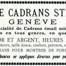Vintage 1931 Fabrique de Cadrans Stern Freres Geneve Swiss Print Ad Publicite Suisse Schweiz