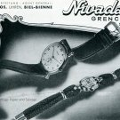 1945 Nivada Watch Company Grenchen Switzerland Swiss Advert Publicite Suisse Montres Schweiz