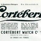 1945 Cortebert Watch Company La Chaux-de-Fonds Switzerland Swiss Advert Publicite Suisse Montres