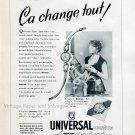 1952 Universal Geneve Watch Company Switzerland Swiss Print Ad Publicite Suisse Montres Schweiz