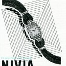Vintage 1945 Nivia Watch Company Switzerland 1940s Swiss Print Ad Publicite Suisse Montres