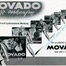 Vintage 1945 Movado Watch Company Switzerland Swiss Print Ad Publicite Suisse Montres Schweiz