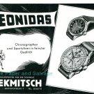 Vintage 1945 Leonidas Watch Company Switzerland 1940s Swiss Advert Publicite Suisse Montres Schweiz